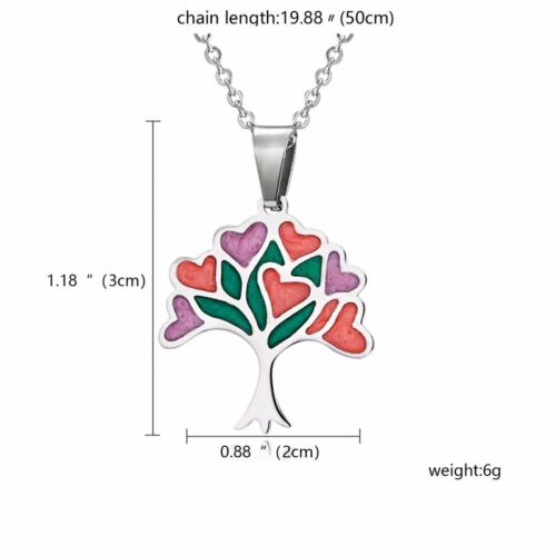 Stainless Steel Cute Footprint Horse Heart Enamel Necklace Chain Pendant Jewelry