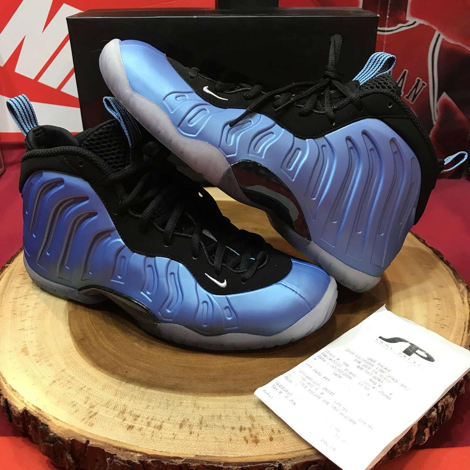 Nike Little Posite One (GS) University Blue/ White-Black 644791 402 sz 7y Penny