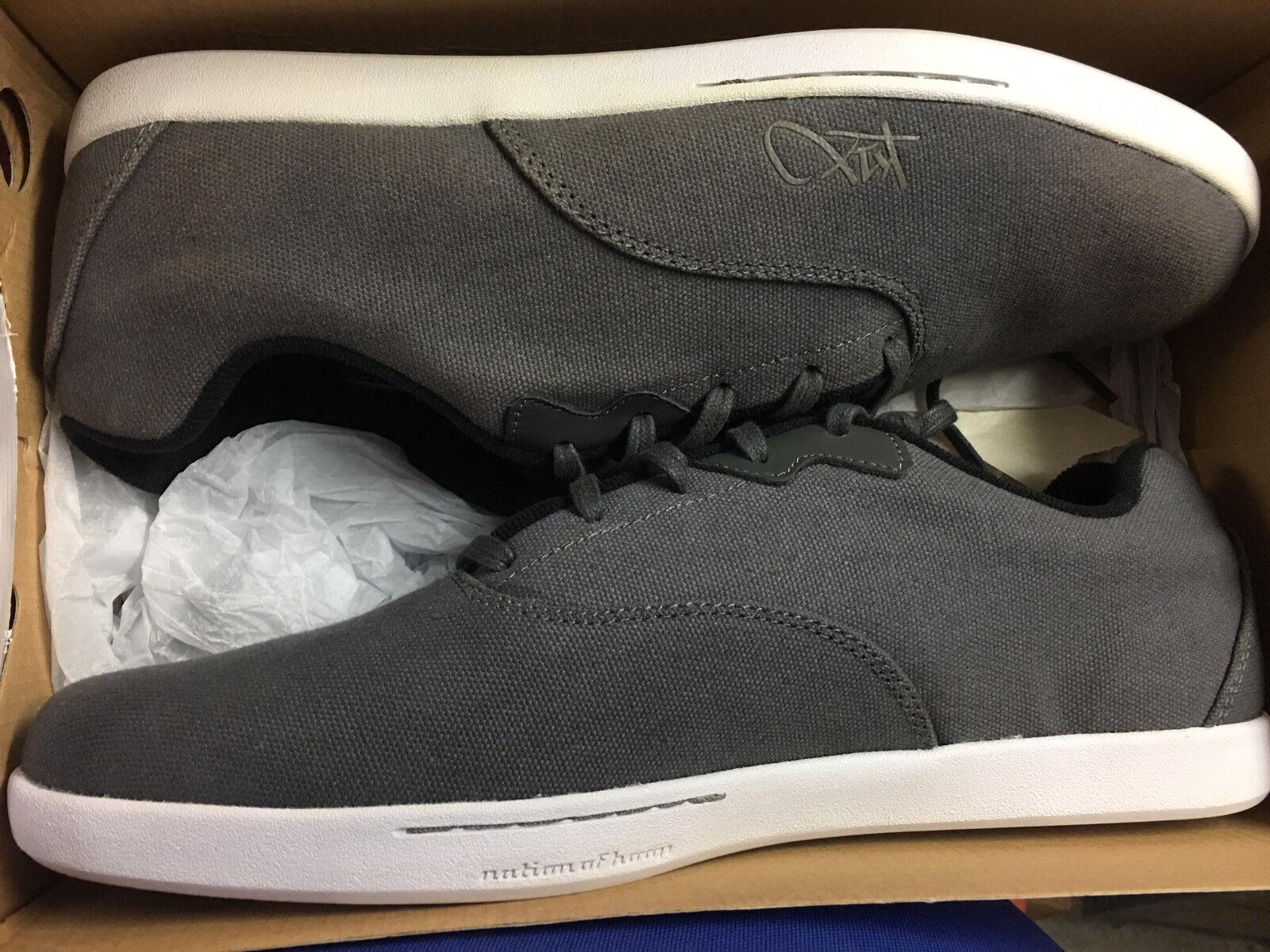 K-Swiss Sommer Snekaer Canvas Textil Schuhe CALI Dunkelgrau Gr:11,5 Neu New