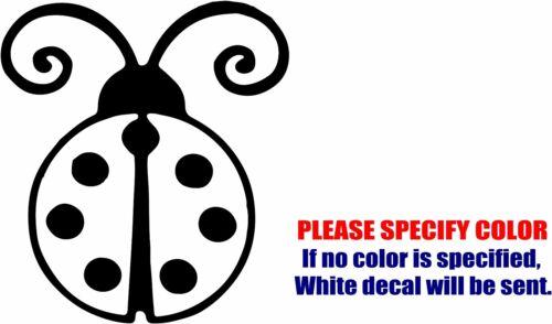 "Ladybug Lucky Decal Sticker JDM Funny Vinyl Car Window Bumper Wall Tablet 6/"""