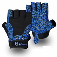 Ladies Gel Gloves Fitness Gym Wear Weight Lifting Training Cycling Blue/black