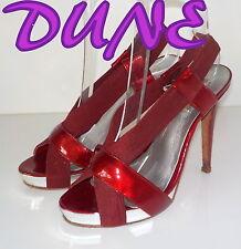 "Amazing ""DUNE"" Red Patent Leather Stretch   Slingbacks  Shoes UK 4  EU 37  £95"