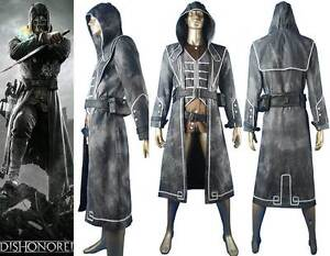 Image Is Loading Dishonored Corvo Attano Outfit Rat Assassin Bodyguard Halloween