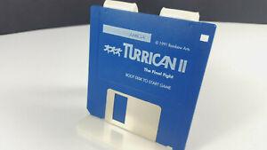 TURRICAN-II-2-by-Factor-5-100-Original-Amiga-Spiel-VGC-Collectible-Rainbow-Arts