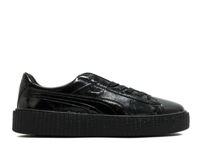 best service a6089 f679f PUMA by Rihanna Creeper Cracked Black Leather Sz US M 10 UK 9 EUR 43
