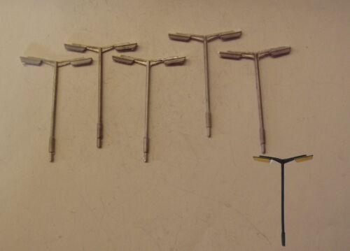 5 P/&d Marsh n Spur N Gussteile Need Maßstab C1 Rohrförmig st Lamps-Dble Kopf