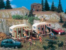 Vollmer 5145, Campingwagen mit Vorzelt, H0 Zubehör Gebäude Bausatz 1:87, Neu