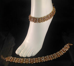 Gold-Anklet-Payal-Stunning-Fashion-jewellery-Bollywood-style-SV23-505