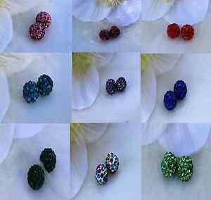 10-Strass-Perlen-Schmuck-Perle-Ton-Shamballa-10mm-Polymer-Clay-DIY