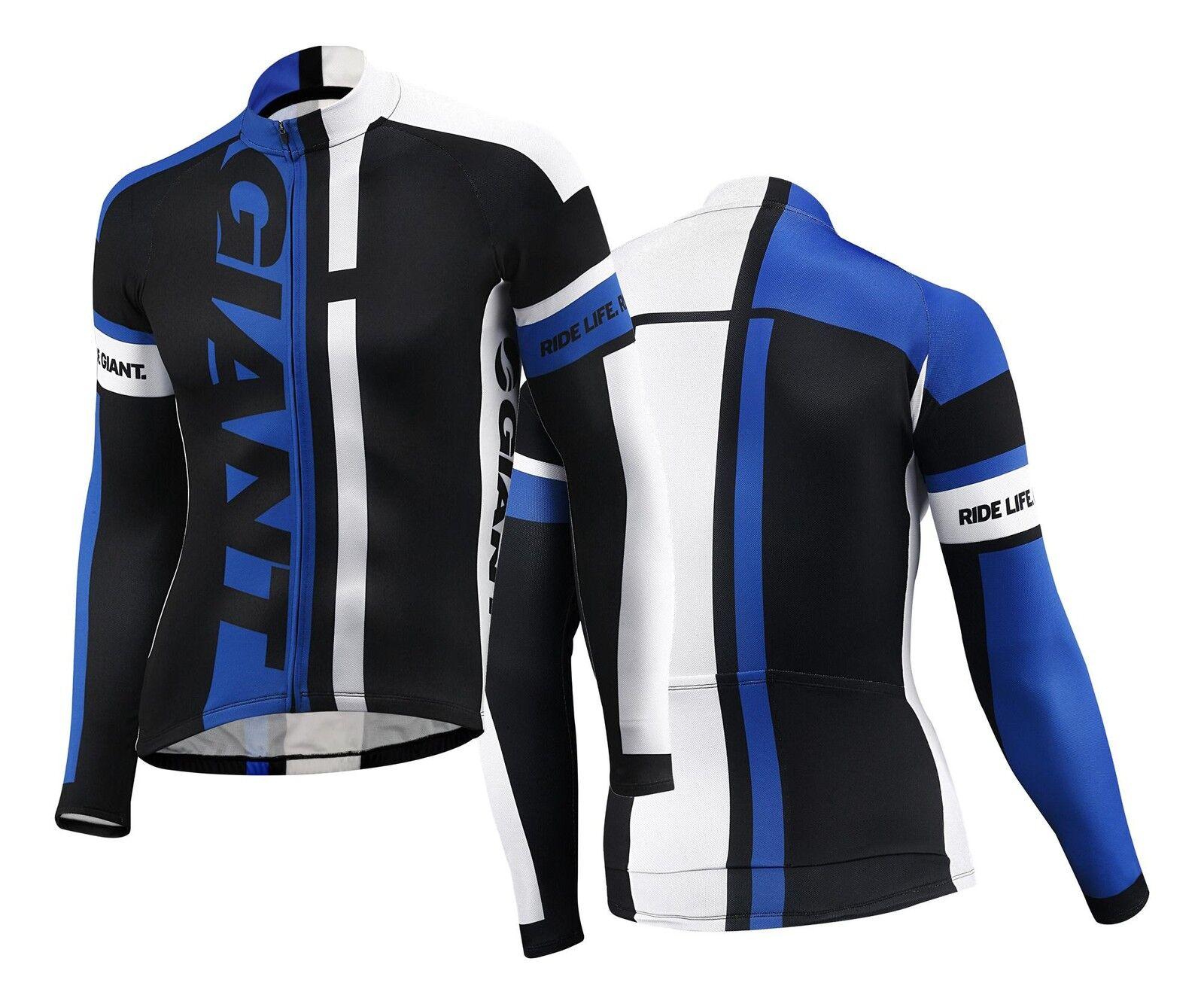 GIANT maglia bici ciclismo corsa mtb manica lunga long sleeve jersey bike blue GT