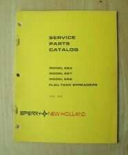 New Holland 663 667 668 Flail Tank Spreader Service Parts Catalog Manual