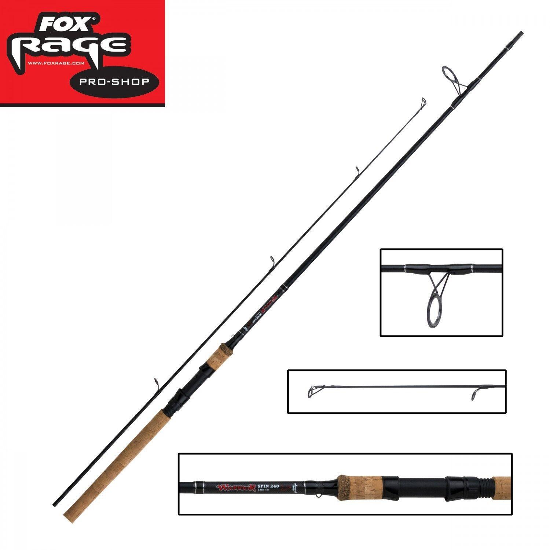 Fox Rage Warrior Spin 2,40m 15-50g Spinnrute für Barsch, Zander und Hecht
