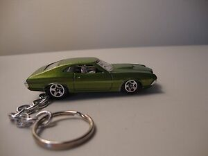Details about 1972 FORD GRAN TORINO SPORT New Keychain GREEN! Key ring  Diecast Toy 68 69 70