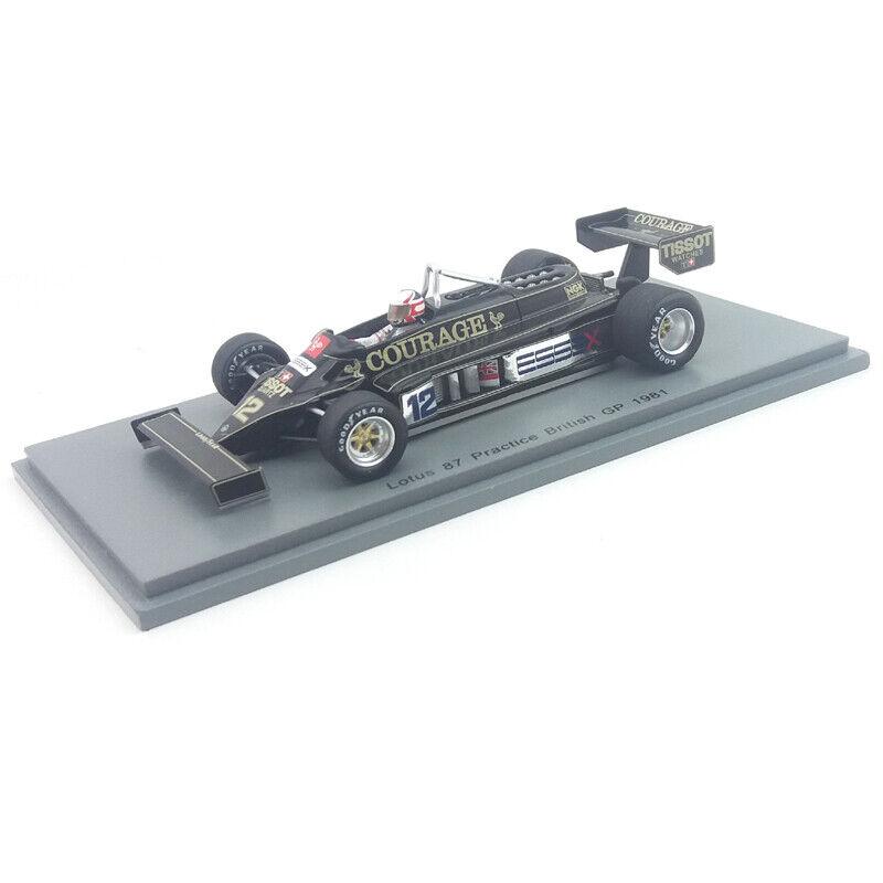 1981  Nigel Mansell - Lotus 87 - British GP - 1 43 Spark Models  autorisation officielle