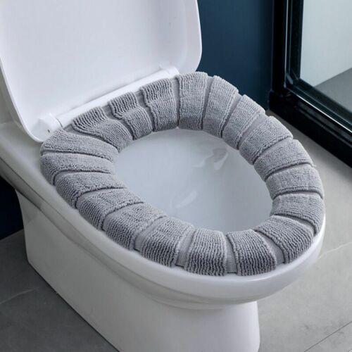 Universal Warm Soft Washable Toilet Seat Cover 1//2//4Pcs//Set Plush Padded Cushion