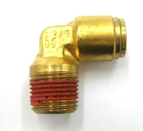 AF D1169-04-06-1//4 Tube DOT Push-To-Connect X 3//8 Male Pipe 90