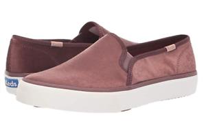 Keds-Women-039-s-Mauve-Double-Decker-Velvet-Shoes