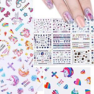 Details about 12 Designs Cosmos Nail Art Sticker Water Decals Star Adhesive  Transfer Stickers