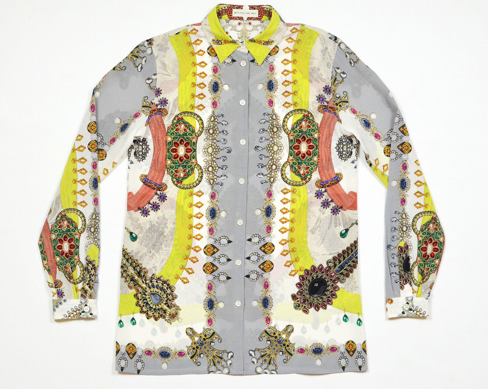 ETRO Silk Blouse Button Down Shirt Top IT 40