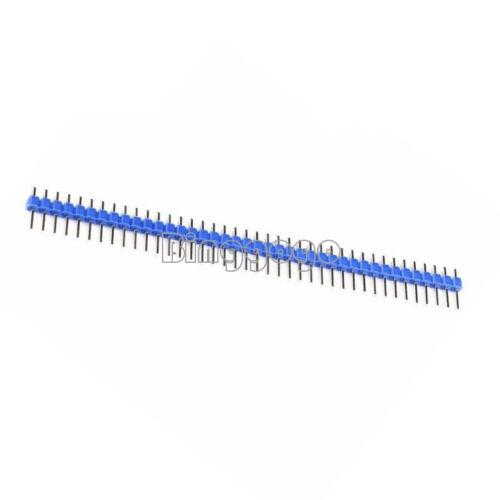 10PCS 40Pin 1x40P Male 2.54mm Breakable Pin Header Strip 40P Blue Color NEU