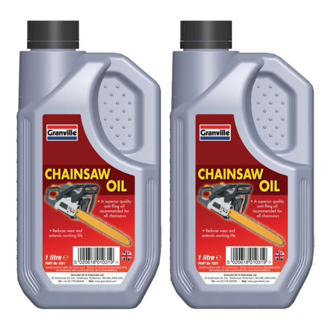2 x Granville Quality Anti Fling Chain Saw Oil Lubricant Fluid SAE 30 - 2 Litre