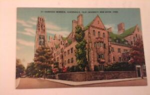 Vtg-1930-40-039-S-Linen-Postcard-HARKNESS-MEMORIAL-QUADRANGLE-YALE-UNIVERSITY-CONN