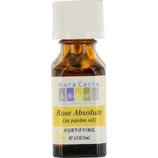 Essential Oils Aura Cacia Rose Absolute In Jojoba Oil .5 oz
