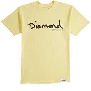 Yellow shirt scritta Supply Diamond Og T con Co 4zvxwqv0d