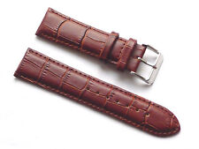 Replacement Quality Lug 22mm Brown Genuine Leather Alligator Strap Guess
