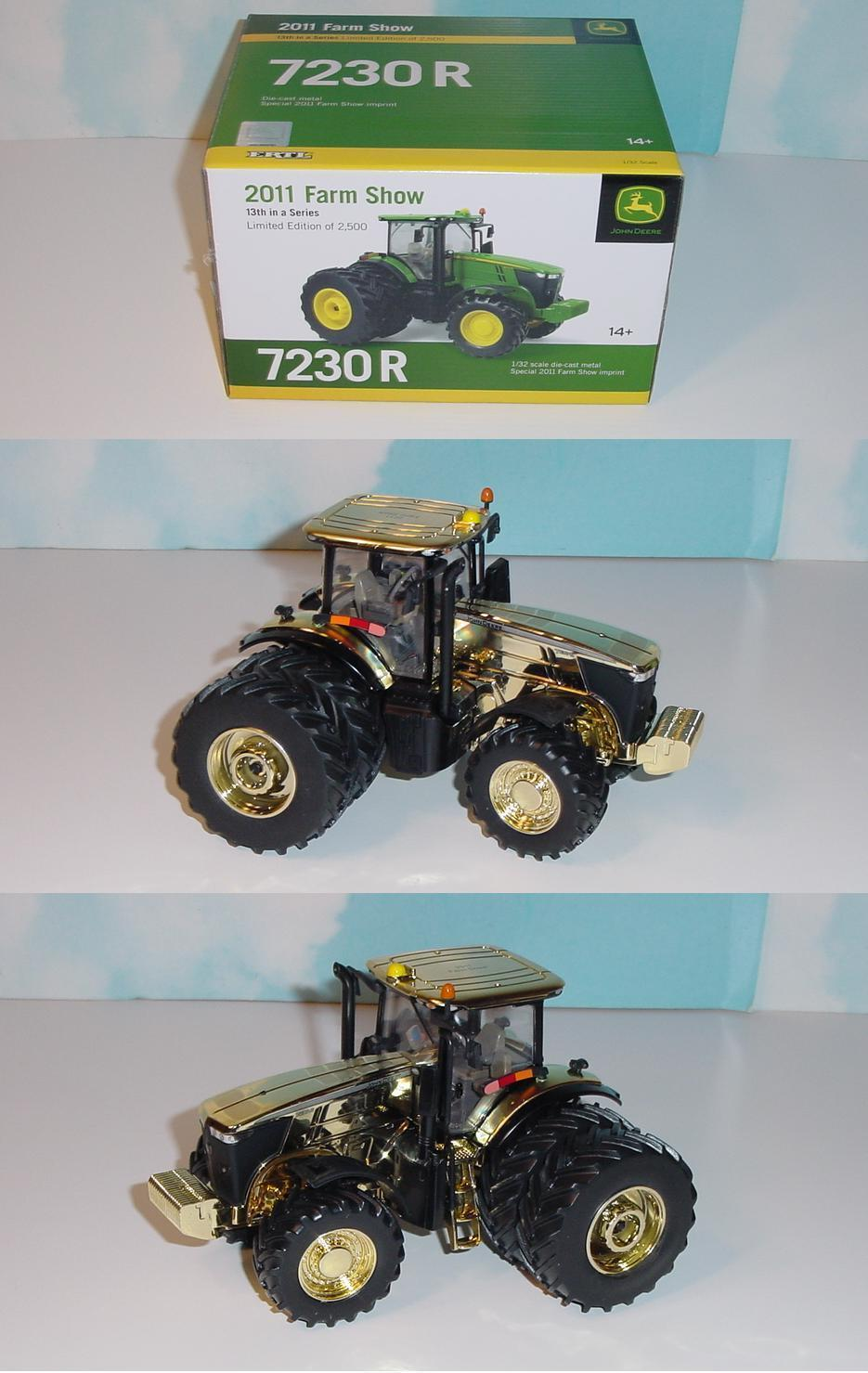 1 32 John Deere  gold Edition  7230R Farm Show Edition 2011 Tractor  Great Price