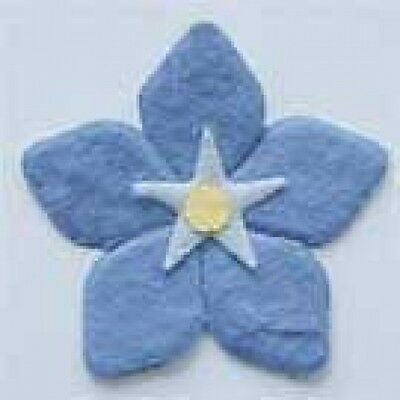 PACK 25 BLUE FOR-GET-ME-KNOT EMBELLISHMENT TOPPERS FOR CARDS/CRAFTS