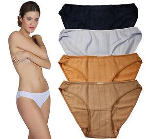6-Pack-Womens-Cotton-Panties-Bikini-Ribbed-Line-Underwear-Soft-Low-Rise-4-Colors