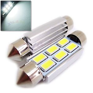 UK-x2-C5W-31-36-39-41mm-Interior-Numero-De-Matricula-CANBUS-FESTOON-6SMD-Bombilla-LED-12v