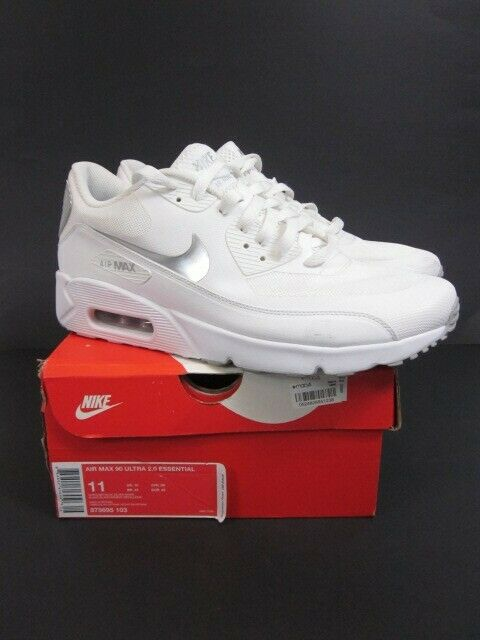 Nike Air Max 90 Ultra 2.0 Essential Men's Sneakers WHTSLV 875695 103 Sz 11US