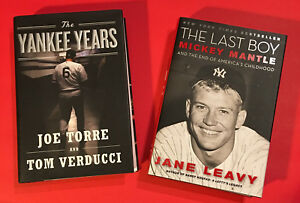 2-NY-YANKEES-BOOKS-YANKEE-YEARS-JOE-TORRE-MICKEY-MANTLE-LAST-BOY-JANE-LEAVY