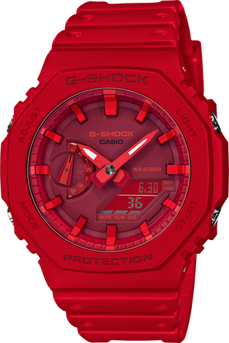 NEW Casio G-Shock Carbon Core Guard World Time Watch GA-2100-4A RED
