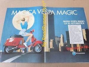 VESPA-Piaggio-MAGIC-50-automatic-pubblicita-originale-1985-advertising-werbung