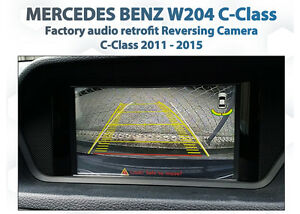 Mercedes-Benz-W204-C-class-Rearview-backup-reverse-camera-Retrofit-Kit