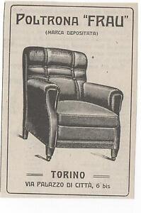 Pubblicita-epoca-vintage-1923-POLTRONA-FRAU-old-advert-werbung-publicite-reklame