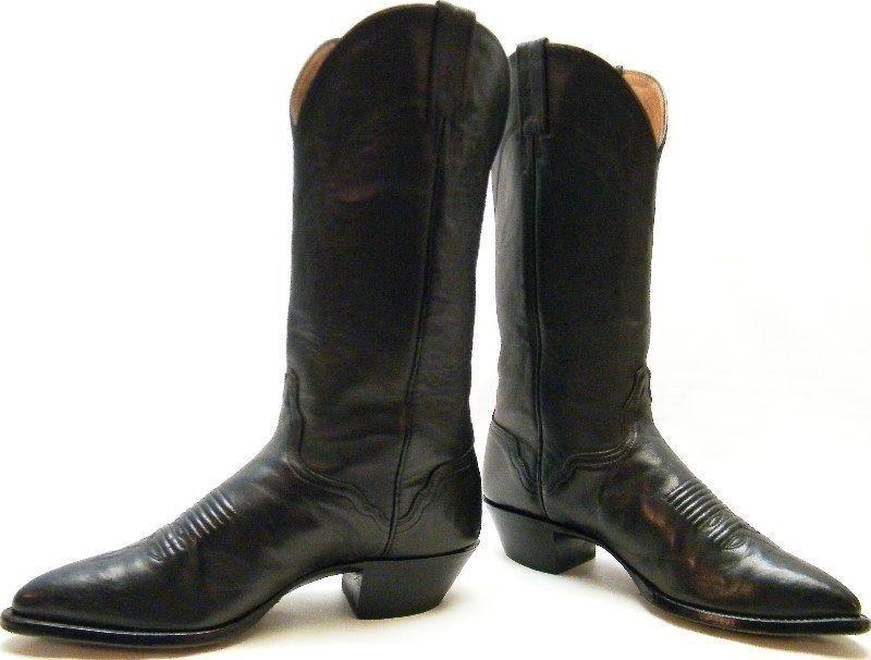 WOMENS EL EL EL DORADO THIEVES MARKET BLK LEATHER COWBOY WESTERN BOOTS SZ 8.51 2 M 02d5a7