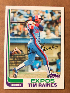 Tim-Raines-1982-Topps-Card-70-BIGJ-S-Montreal-Expos-Hall-Of-Fame-Mint