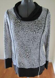 Frank Lyman Animal Print Black Top Tunic Shirt Womens Size 16 Us 18 Uk Ebay