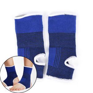 2PCS-Cheville-Pied-Elastique-Compression-Wrap-Manches-Bandage-Brace-Support