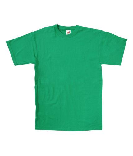 New Mens Plain Fruit Of The Loom Valueweight T Shirt Blank Tee FOTL
