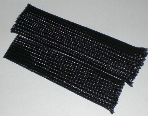 VPE 50m Geflechtschlauch Schutzschlauch Ø 10mm bis 21mm auf Rolle schwarz