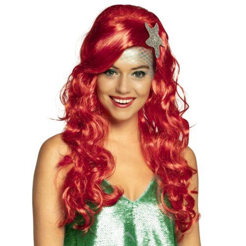 Arella Meerjungfrau Perücke mit Seestern NEU Karneval Fasching Perücke Haare