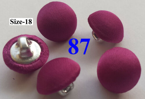 24 Choose 5 SILK SATIN CHARMEUSE FABRIC COVERED BUTTONS BUTTON HANDMADE Size18