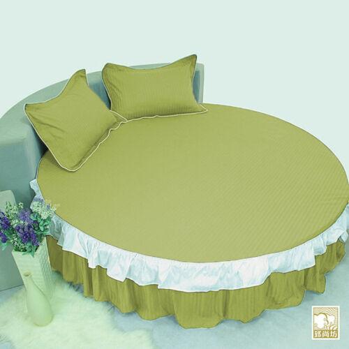 "15/"" Drop Multi Stripe Ruffle Round Bed Skirt 800 TC Egyptian Cotton 80/""//84/""//96/"""