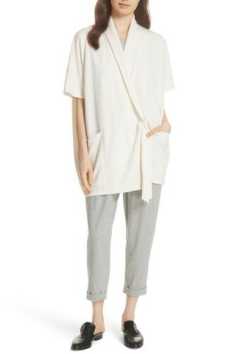 $178 Eileen Fisher Moon Organic Cotton Speckled Knit Ankle Pant S L XL PM