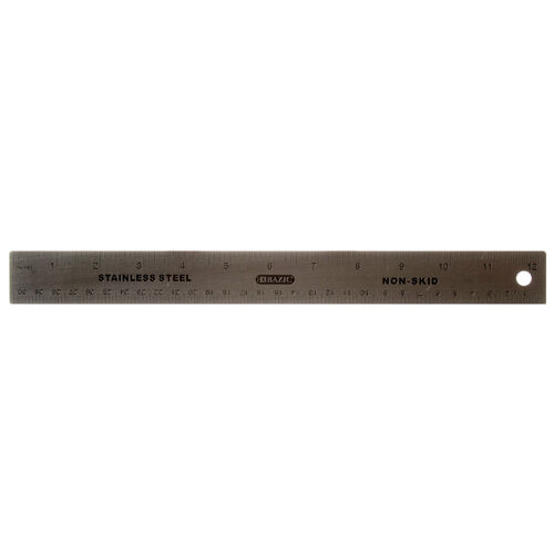 """BAZIC 12/"""" Stainless Steel High Quality Metal Ruler 30cm"""